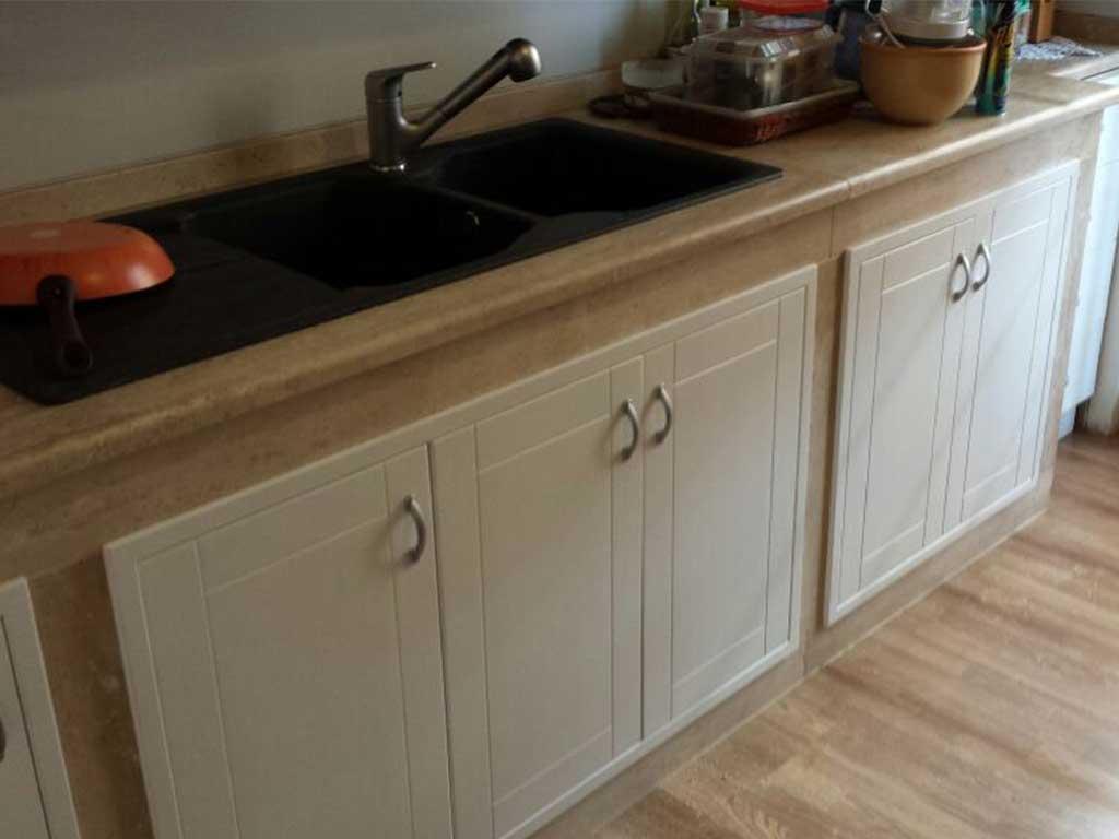 Emejing sportelli legno per cucina muratura contemporary home interior ideas - Cucinini in muratura ...